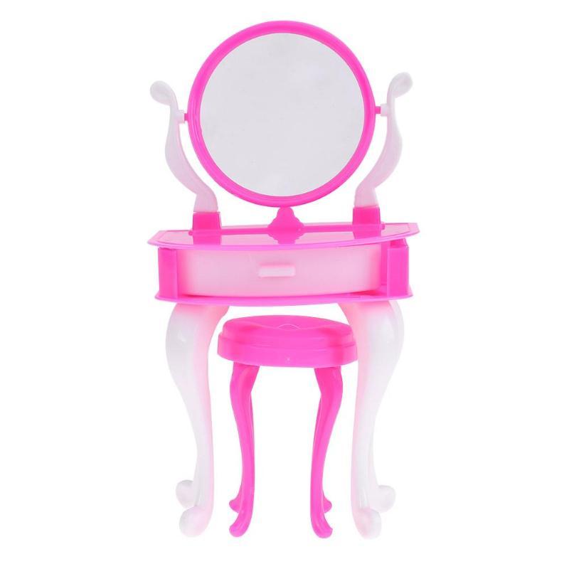 poppenhuis meubels miniatuur dressoir stoel set meisjes cosmetica speelgoed kinderen spelen huis slaapkamer speelgoed voor barbie