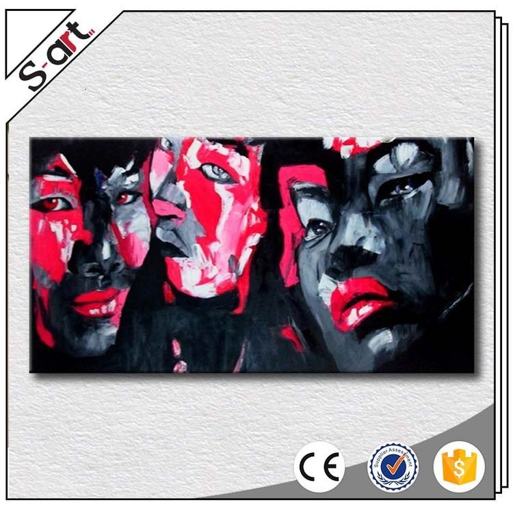Special customized new design pallet knife pop art handicraft oil painting