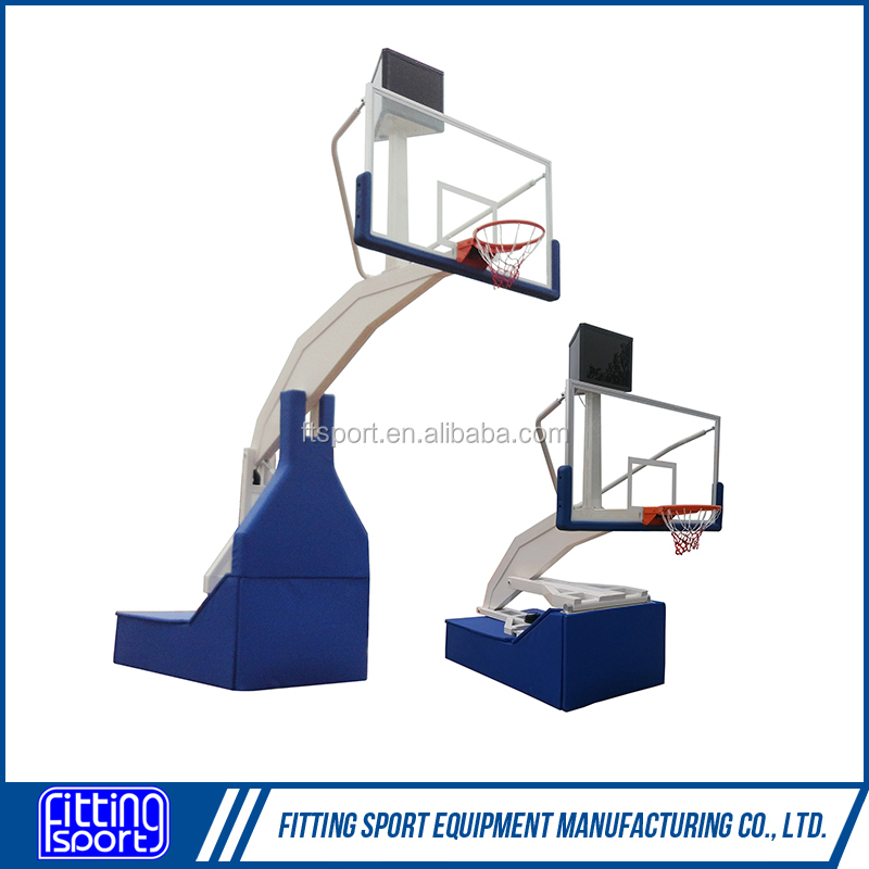 High Quality 5FT Mobile Remote Control Electric Hydraulic Basketball System/Hoop
