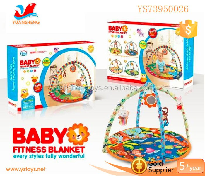 Wholesale Plush Baby Toy Baby Floor Activity Gym Soft Cotton Crawling Rugs Playmat With Balls