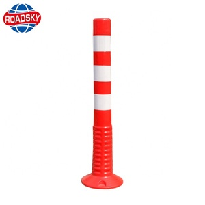 Warning Delineator Outdoor Flexible PU Rubber Sign Post
