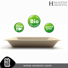 disposable compostable moulded plant fiber pulp snack food tray