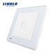 Livolo White Crystal Glass Panel One gang Computer Network RJ45 Socket Wall Socket VL-W291C-12(COM)