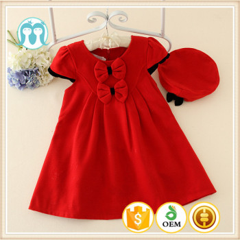 f4ee527ccc5 Red baby girl dress design winter kids wear