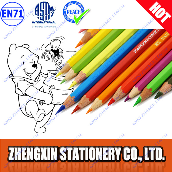 mini or short color pencil with children coloring book