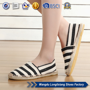 Espadrilles sole of jute shoes with printing logo for men and women