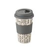 Biodegradable Fiber Coffee Cup Bamboo Fiber Mug With Lid And Sleeve