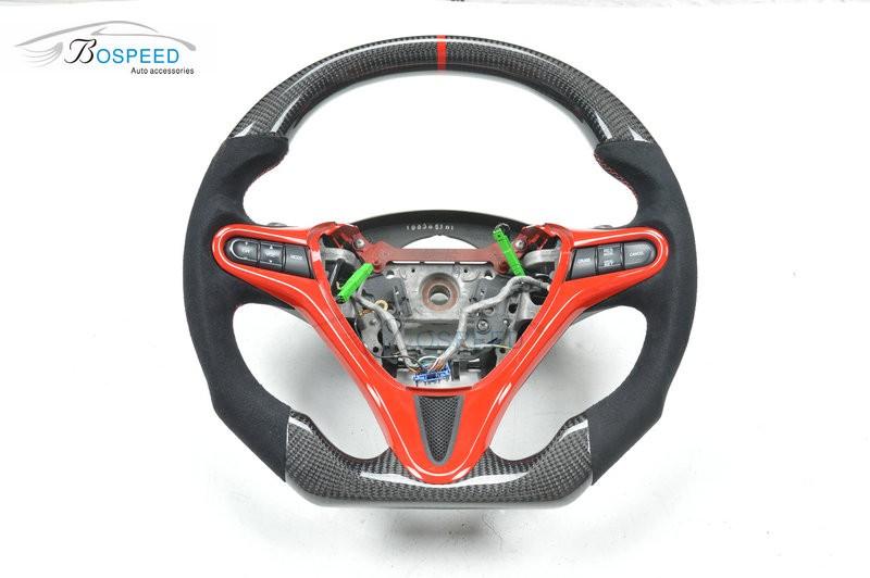 100 Real Carbon Fiber Steering Wheel Racing Car For Honda Civic 8th