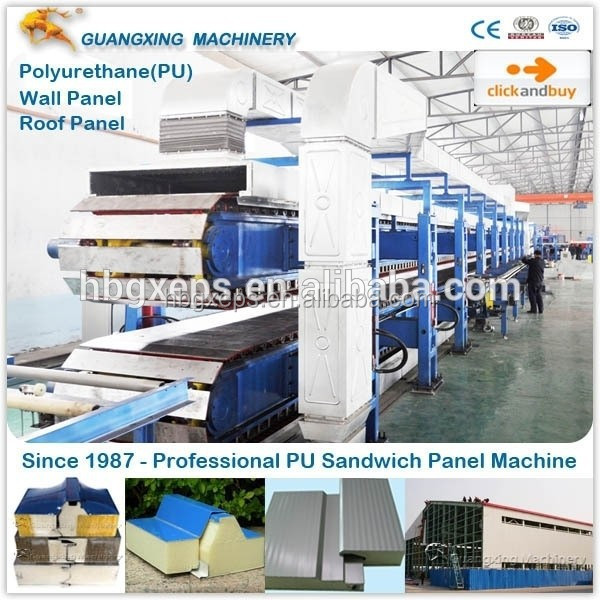 Guangxing Machinery New Continuous PU Sandwich Panel Line with CE