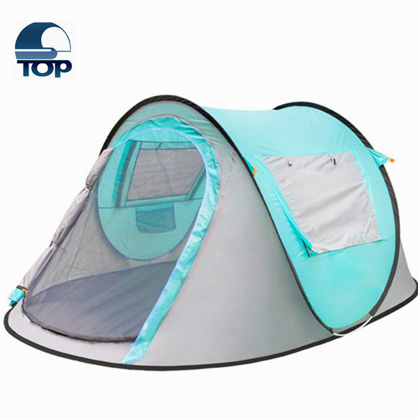 Wholesale Double Layer Four Seasons Blue Camping Tent for the 2016 big promotion from Shanxi Top Industries skype sxtopsales4
