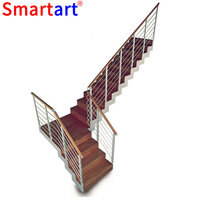 Modern tempered glass stairs 9004-24