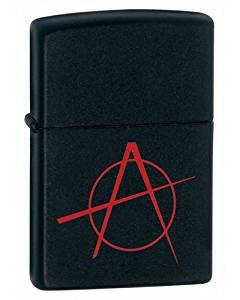 Zippo Anarchy Black Matte Lighter (Set of 6)