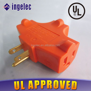 Ul/cul Certification Ground Outlet/current Adapter/wall Tap 15a ...