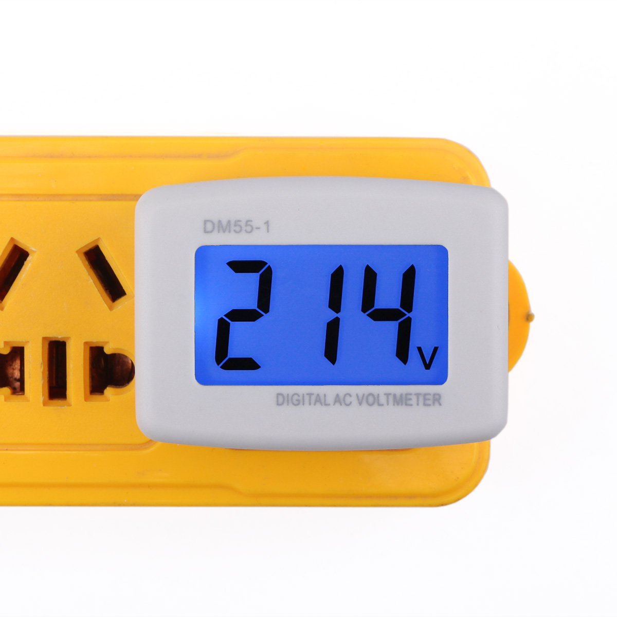 Cheap 220 Volt Ac Plug Find Deals On Line At How To Build 110 And 220v Led Voltage Indicator Get Quotations Drok 90538 Flat 80 300v Panel Power Test Monitor Gauge
