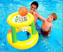 INTEX 58504 Summer Party Swimming Pool Basketball Inflatable Floating Hoops Inflatable Water Hoop water Game toy