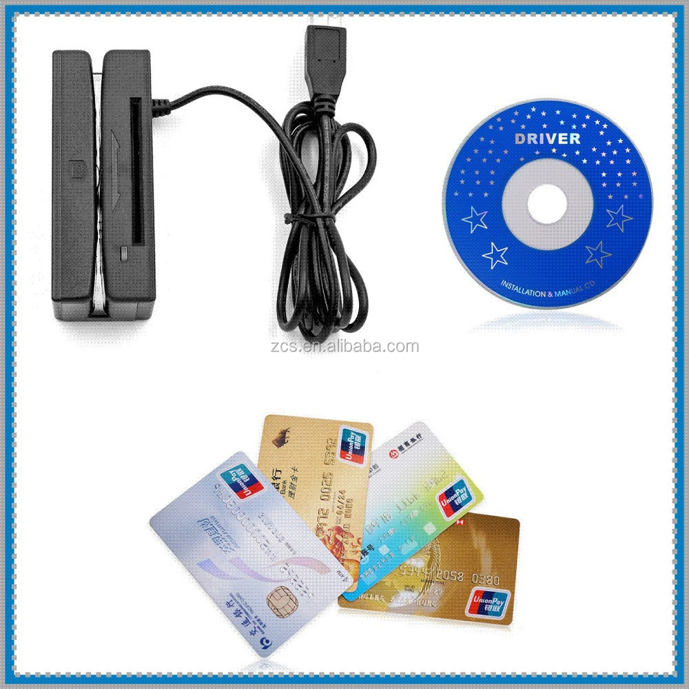 ZCS100-IC USB Magstripe Card Reader & IC EMV Chip Contact Card Reader writer /encoder Combo