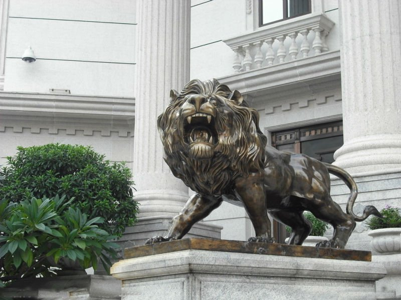 Life Size Outdoor Bronze Lion Statue