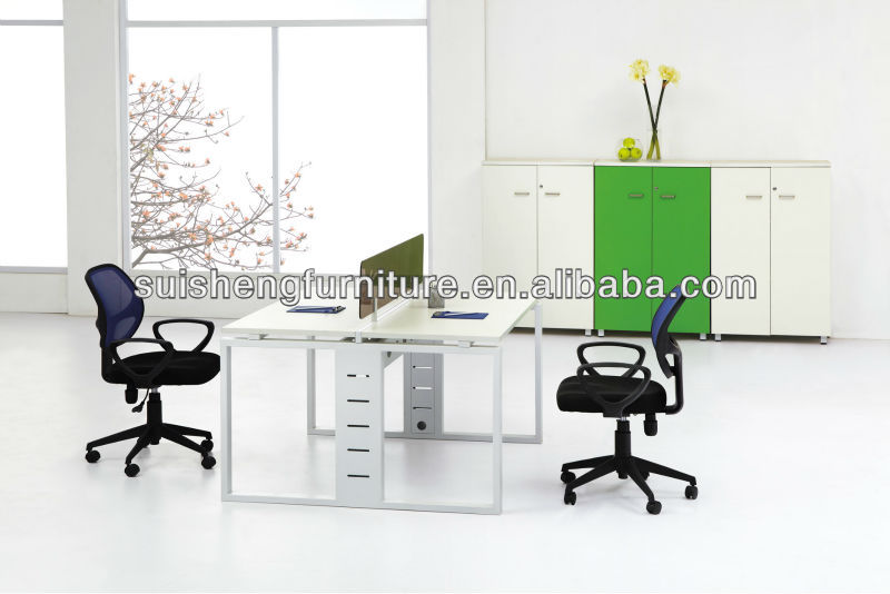 2012 Hot-sale new style office furniture for staff wooden workstation with steel frame A023