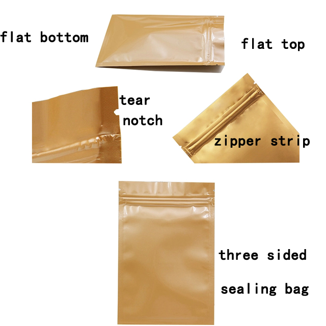 Custom Airtight Aluminum Foil Laminated Plastic Weed Packaging Smell Proof Bags Small Zipper Hemp Tea Package Bag Plastic Pouch