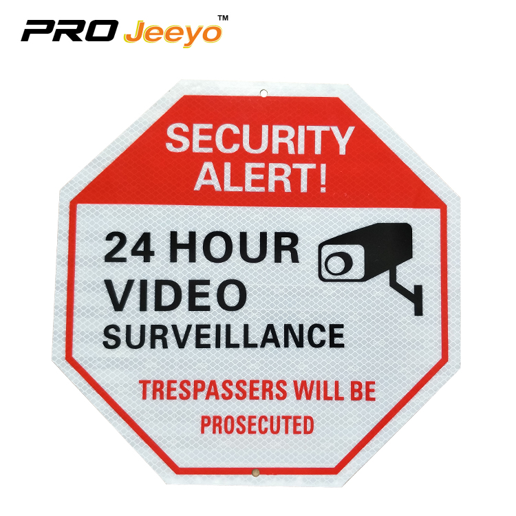 "AL1212 EGP-12 12x12"" 24 Hour Video Surveilance Security Board Signs,Sign manufacturer,Traffic Sign Stands"