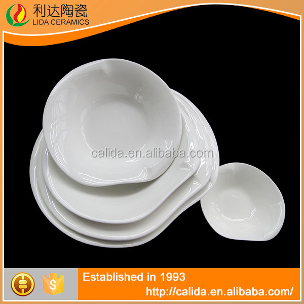 Eco-Friendly good quality white porcelain LD11308 11307 11306 11305 indian dinner sets with high quality