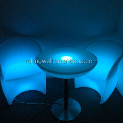 led plastic sofa,night club sofa,modern restaurant sofa seat