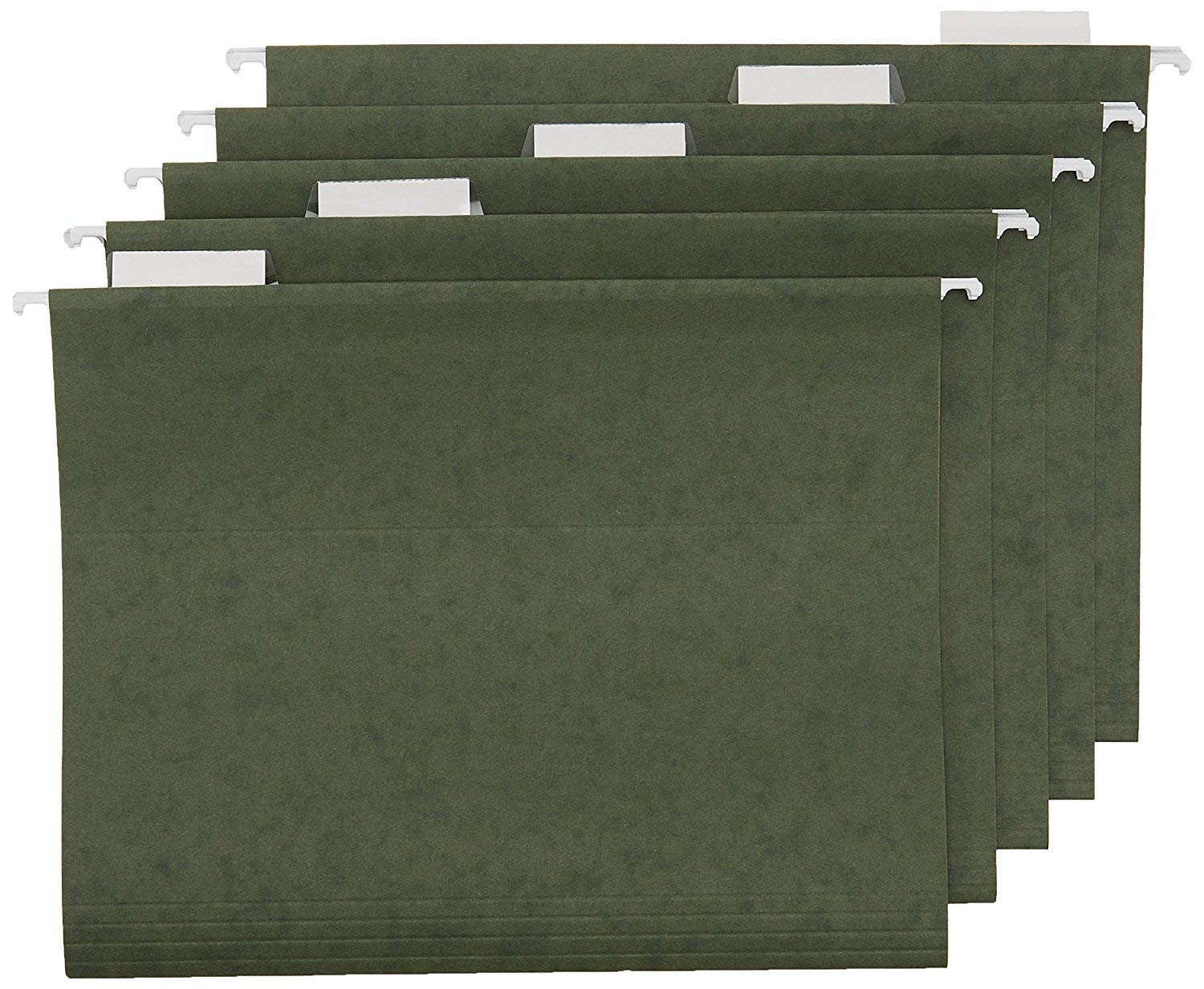 Office Basiks Hanging File Folders - Letter Size, Green, 25-Pack