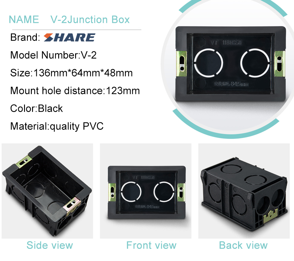 High Quality Wall Switch Mount Box Pvc Socket Wall Box