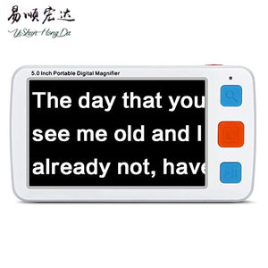 5.0 inch Handheld Portable Video Digital Magnifier Mobile Electronic Reading Aid with Multiple Color Modes, Rechargeable Battery