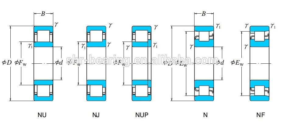 Japan KOYO cylindrical roller bearing NU208 brass bearing cage