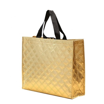 Gold foil halloween soccer coffee tote bag no painting plain shopping bag