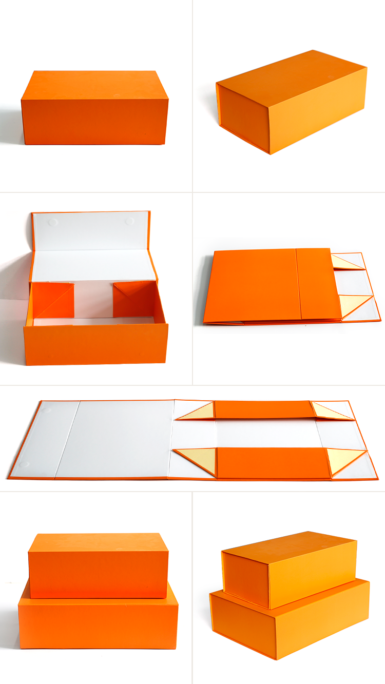 Custom Logo Folding  Paper Flat Packing Luxury Magnetic Gift Box Wholesale