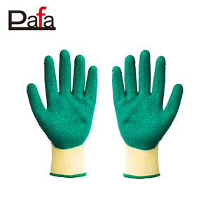 Latex working gloves motorcycle winter with green palm coating
