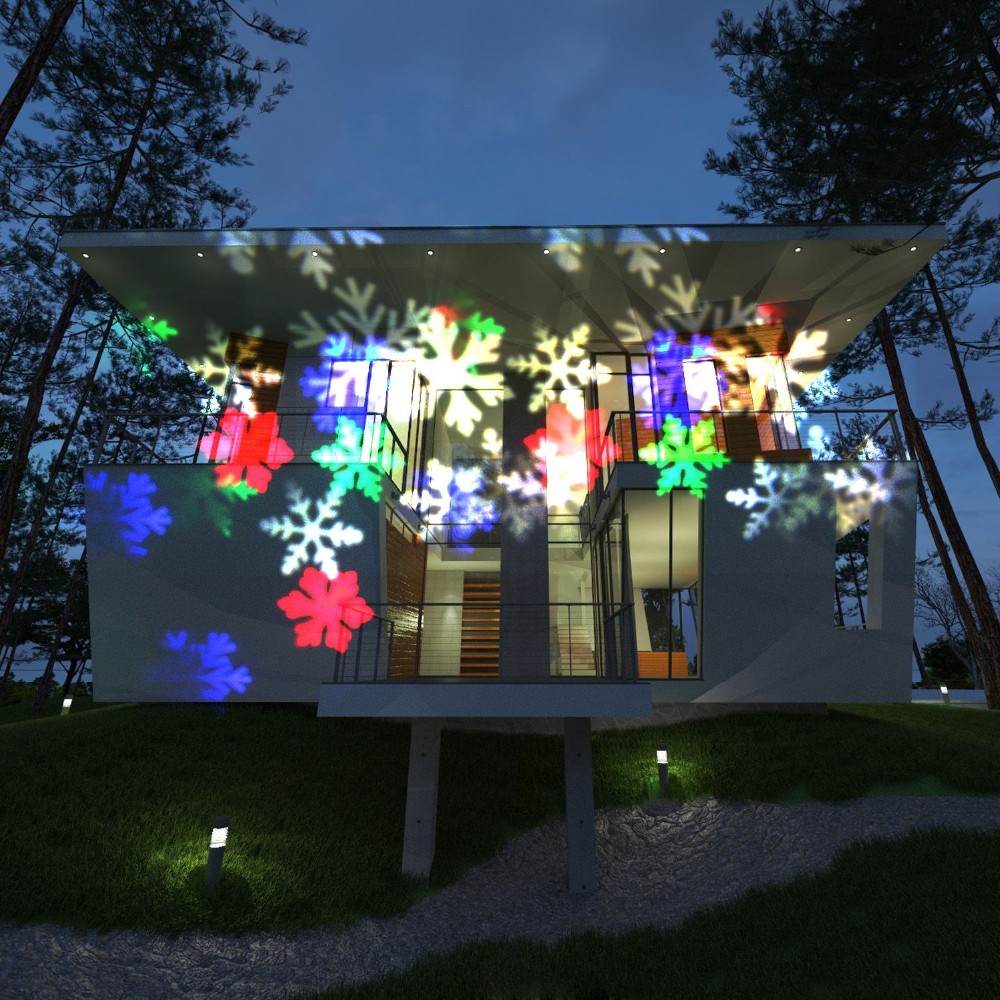 Christmas Projector Lights.2018 Best White Snowflake Light Outdoor Led Garden Light Waterproof Outdoor Christmas Lights Led Snowflake Projector