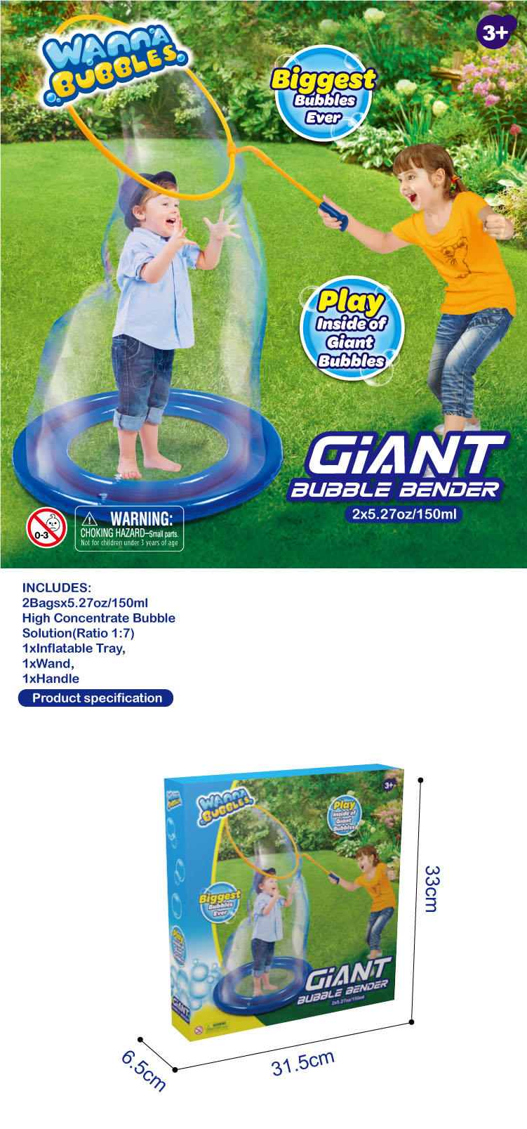 GIANT BUBBLE BENDER GROTE BUBBLE WAND