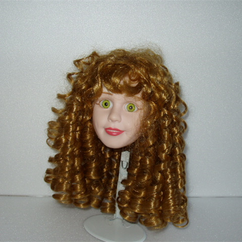 Coloured synthetic nylon doll hair china supplier