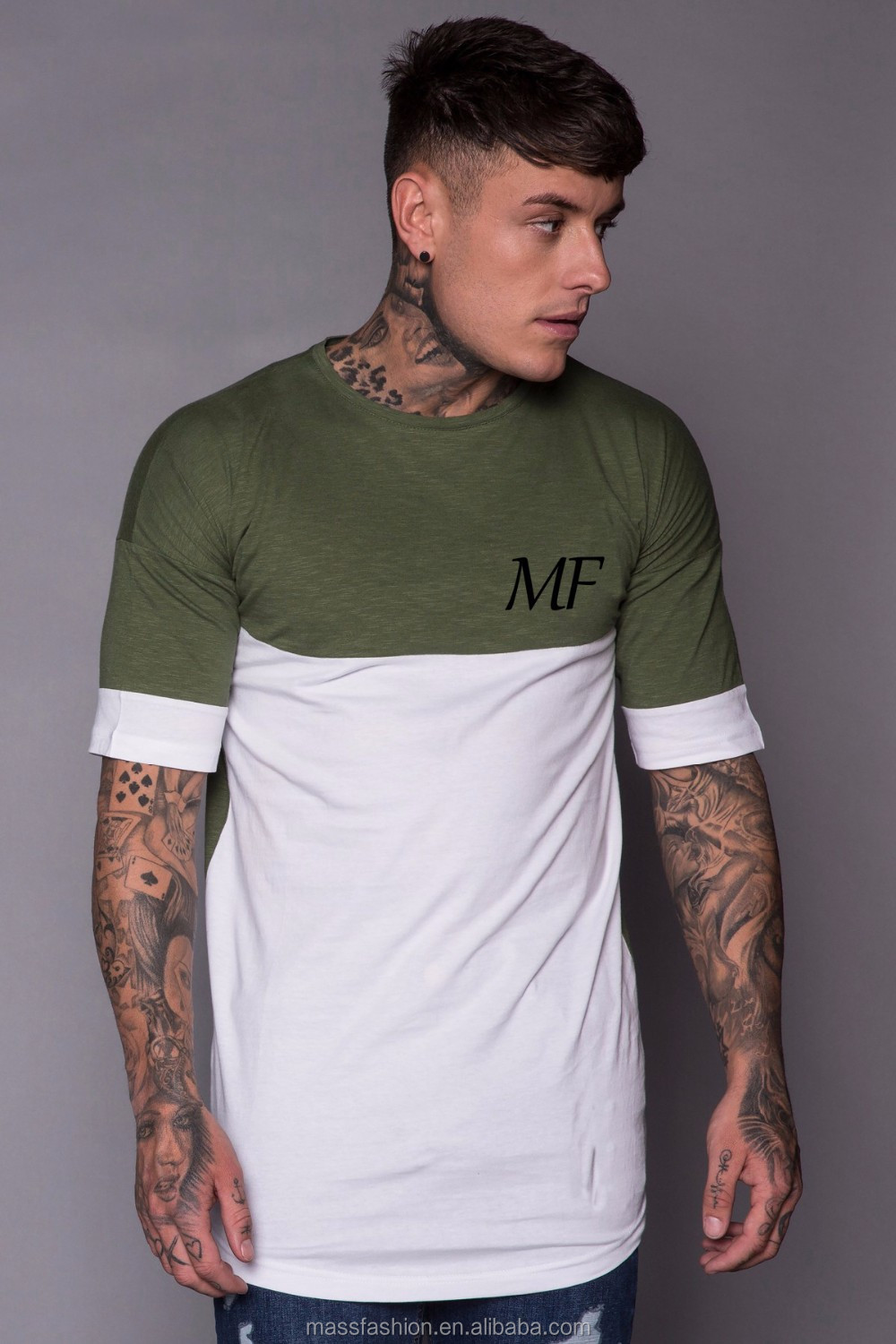 Custom Shirts With Different Colored Sleeves Summer Mens Blank Tee