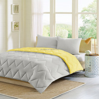 Soft brushed microfiber quilted comforter