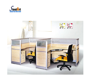 Furniture Cubicle Workstation L Shape Office Desk Frosted Gl Parions