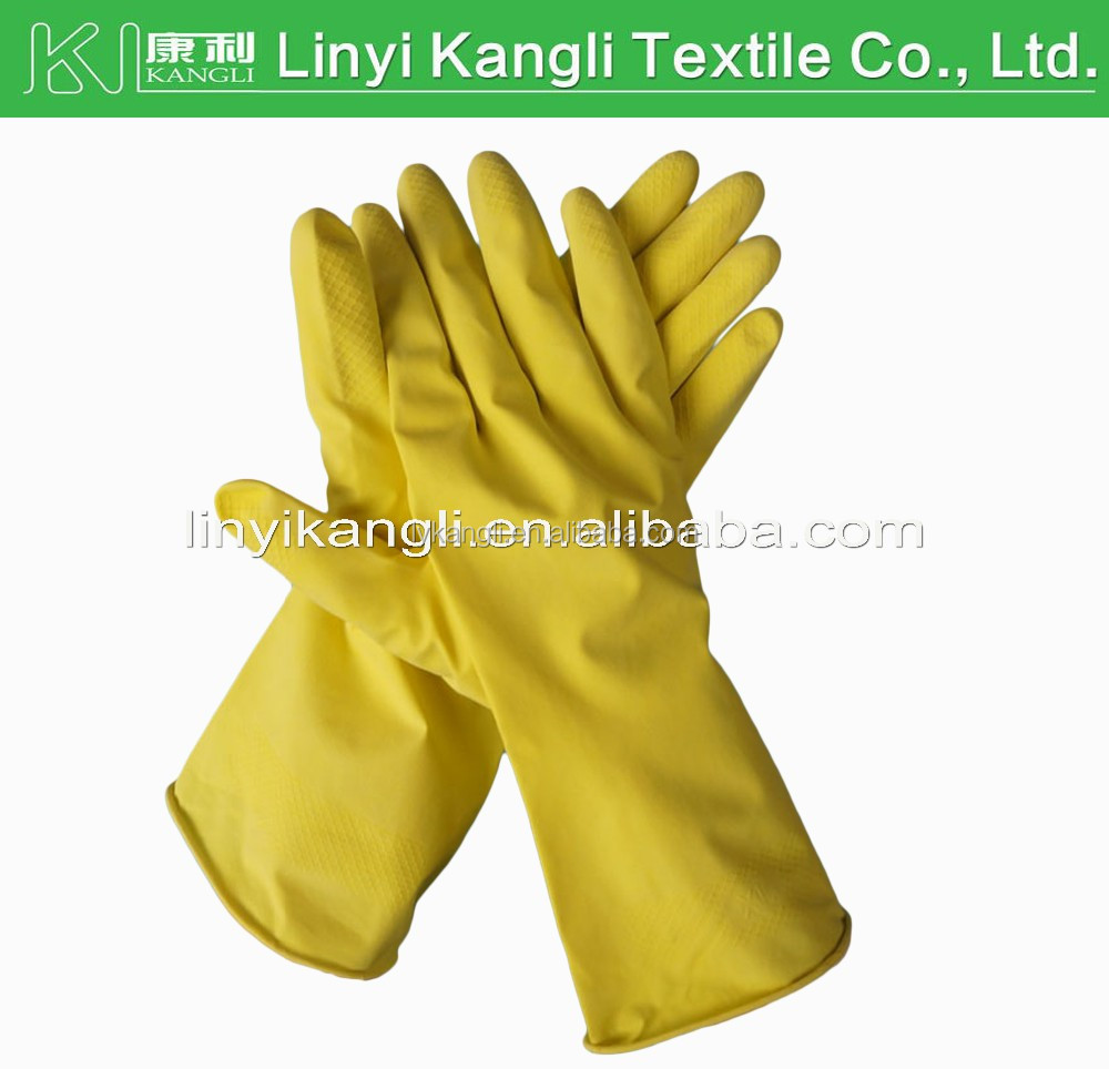 extra long rubber household cleaning gloves waterproof