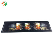 AY 2016 New 4C Sublimation Beer Mat Thin Rubber Drip Rail Bar Runner