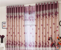 floral print blackout fabric curtain styles for dubai types of printing fabric for cutain
