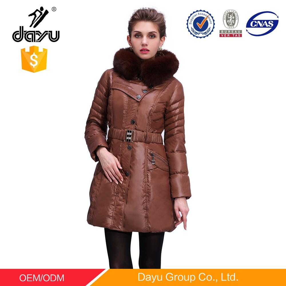 Real Feather Down Jacket Quilted Bomber Jacket Parka Women Winter ...