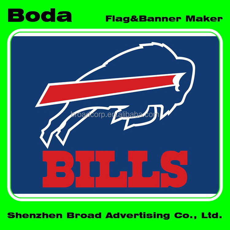 4x6inch Polyester Nfl Buffalo Bills Hand Waving Flag