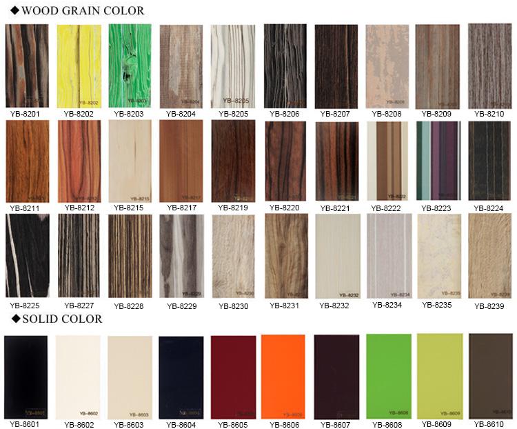 High Gloss Wood Grain Melamine Paper Laminated Uv Mdf