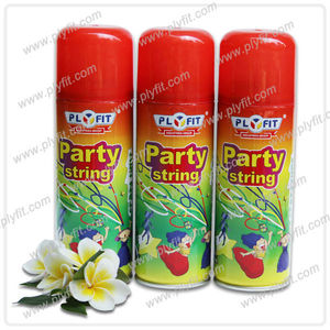 colorful birthday party foam string spray