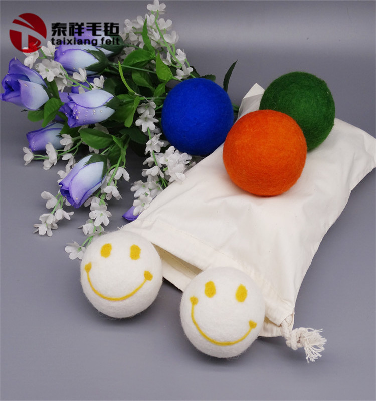 Anti statica di lana di colore dryer balls amazon top seller 2019 xl 6 pacco di lana palle asciugatrice