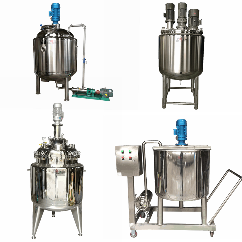 1000L stainless steel tank for milk powder mixing with high hear homogenizer
