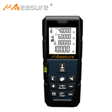 Measure MS-100a 40M 60M 80M 100M Laser Distance Meter Portable Mute Laser Level with Electronic Bubble Levels Rangefinder
