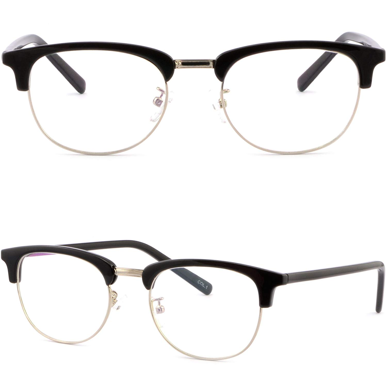 1cb7a71ee5b Get Quotations · Full Rim Womens Mens Browline Frame Prescription Glasses  Sunglasses Black Silver Rim